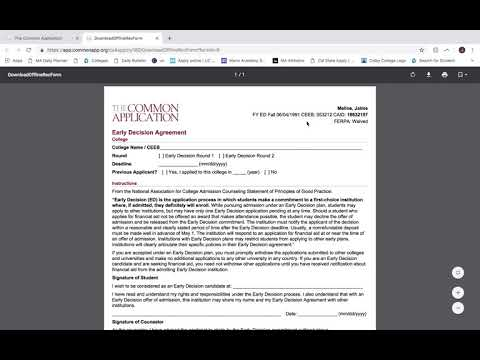 Instructions For Ed Agreement Youtube