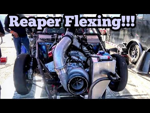 Street Outlaws Reaper Flexing at No Prep Kings in Texas