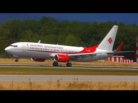 Air Algerie Boeing 737-800 7T-VKD Landing & Takeoff at Geneva Airport (GVA/LSGG)