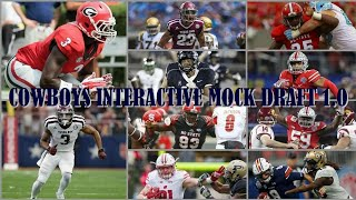 COWBOYS INTERACTIVE MOCK DRAFT 1.0: You Help Decide Our 2018 Draft & Then WIll See Them In Action!!!