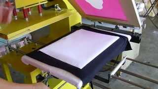 dye subyemation on black colour t-shirt