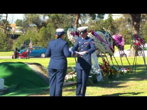 Merchant Marine Juan Andres Espinoza, WWII Flag Presentation