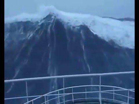 North Sea Big Wave Hits Ship Youtube