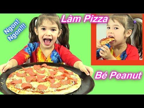 Bé Peanut Làm Và Ăn Pizza Xúc Xích Mỹ [ Không Cần Ủ Bột ] Homemade Pepperoni Pizza
