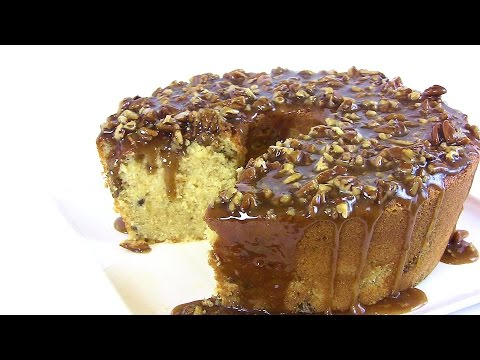 Holiday Series: Caramel Pecan Pound Cake Recipe |Cooking With Carolyn