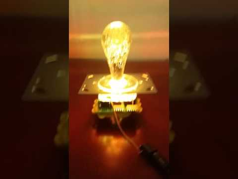 12V RGB flash in cycle illuminated joystick with all in one bat type crystal bobble top 5P connector