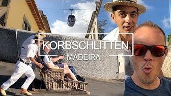 Korbschlittenfahrt vom Monte nach Funchal auf Madeira