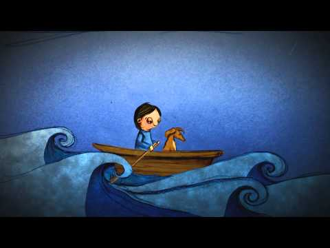 The Silent Blue Book by Maia Walczak (music by Amy Hiller & animations by Tim Hall)
