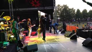 Damian Marley's son on stage in Finland July 2015