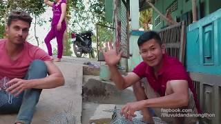 Bầy ong rượt đánh Bạn Mỹ Dustin ở Động Chuột l Chuột nướng chao nhậu ngoài vườn