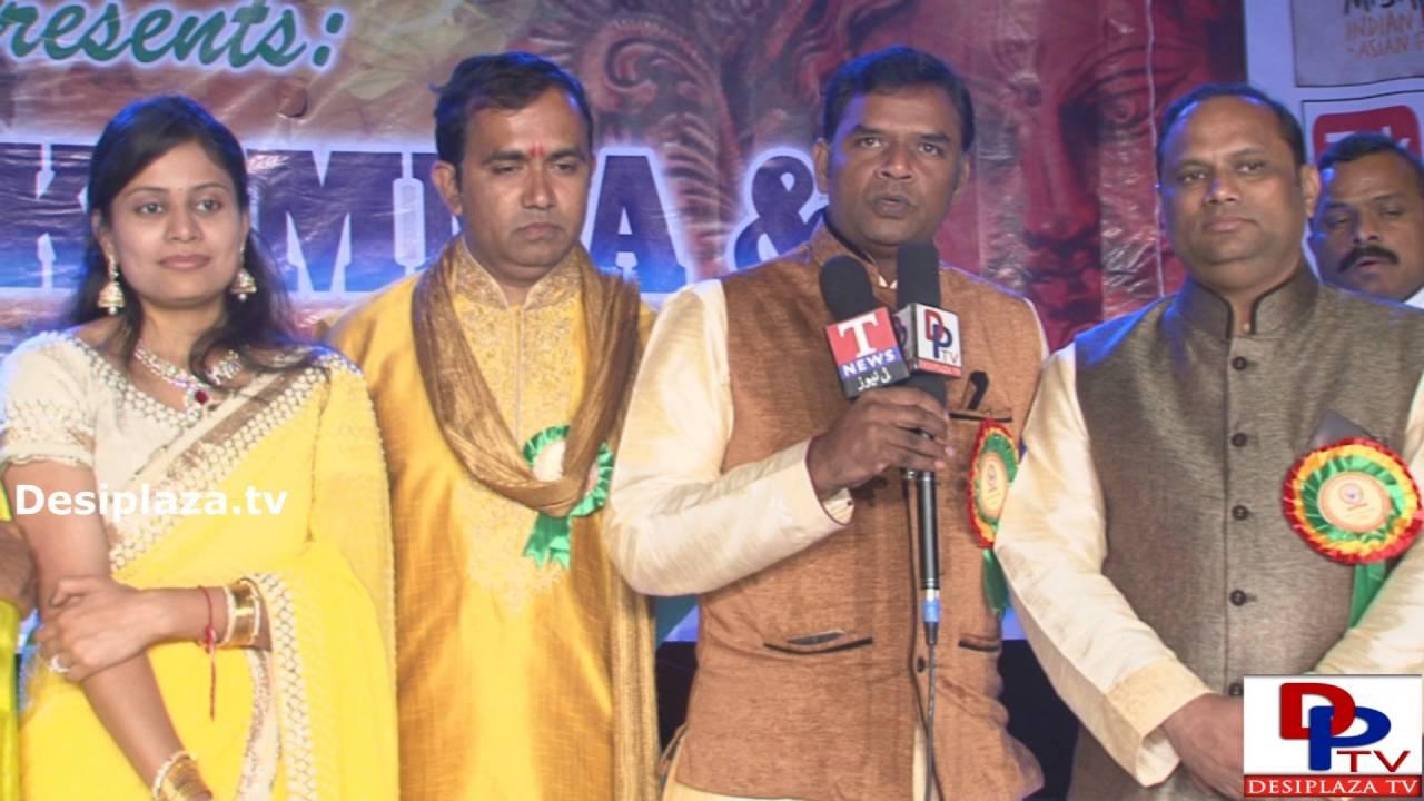 Mahendra Ganapuram,Convenor  of the event  speaking to the media at DATA Bathukamma Sambaralu