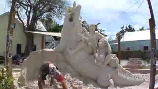 Sand Sculpture Time Lapse