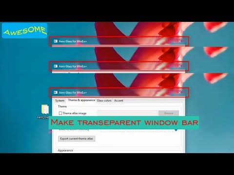 how to make windows 10 title bars transparent