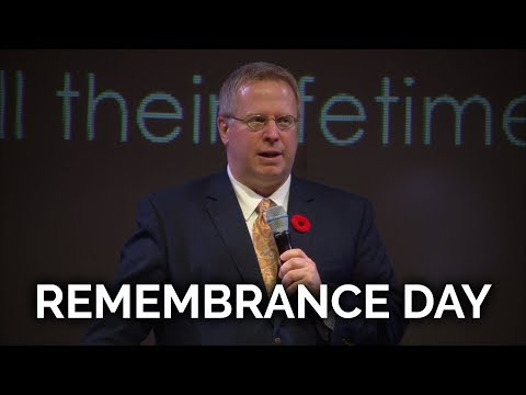 Remembrance Day 2018 – Pastor Raymond Woodward
