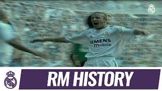 David Beckham's first LaLiga goal for Real Madrid!