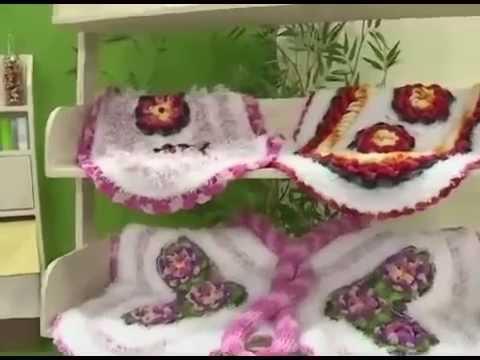 Arte brasil tapete floral em croch maria jos youtube for Tapete floral