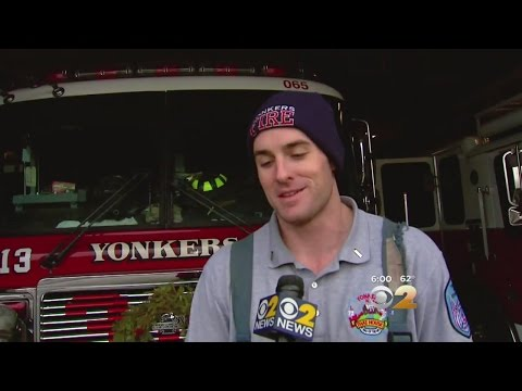 Yonkers Fire Department Lt. Danny Nee saved a teenager from a burning apartment on Christmas Day.