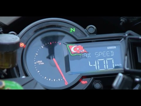 KAWASAKİ H2R TOP SPEED RECORD 400 KM İN 26 SECOND