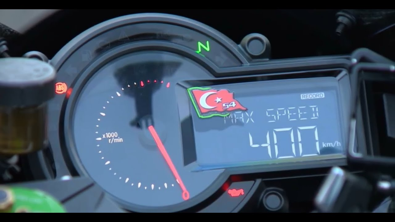 Kawasaki H2r Top Speed Record 400 Km In 26 Second