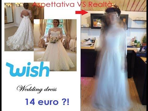 Vestiti Eleganti Su Wish.Ho Acquistato Un Abito Da Sposa Su Wish Infinitelashes Youtube