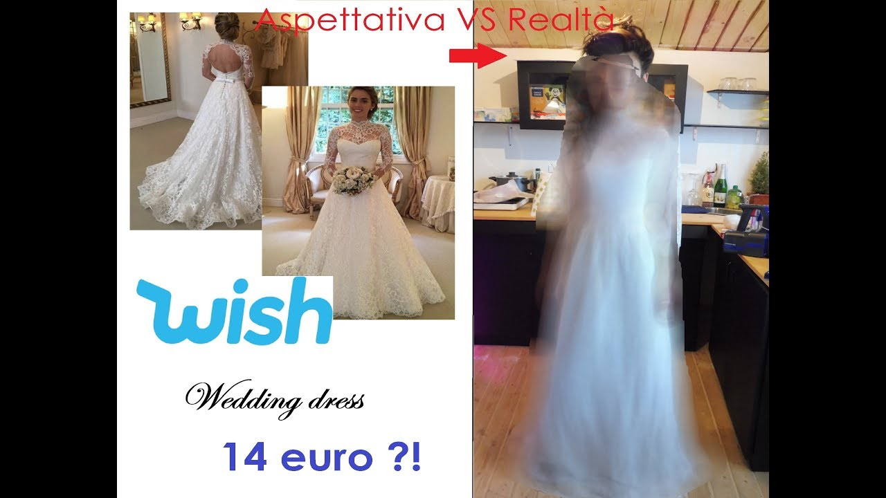Vestiti Da Sposa Wish.Ho Acquistato Un Abito Da Sposa Su Wish Infinitelashes Youtube