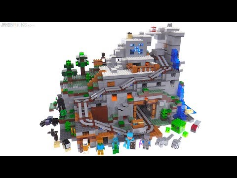 LEGO Minecraft The Mountain Cave review ⛰️ 21137