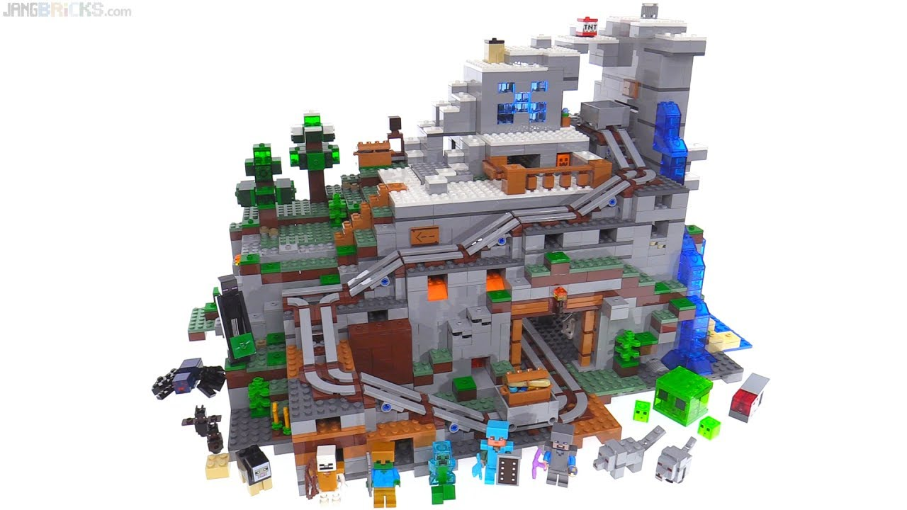 Hardest Lego Set >> LEGO Minecraft The Mountain Cave review ⛰️ 21137 - YouTube