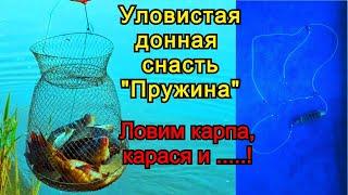 Уловистая донная снасть Пружина для ловли Карпа и карася Лайфхаки для рыбалки Рыбалка 2021