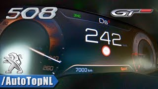 Peugeot 508 GT 2019   1.6 THP 225P ACCELERATION & TOP SPEED 0-242km/h by AutoTopNL