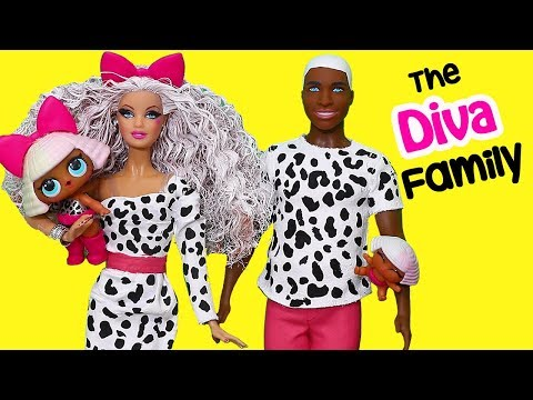 Barbie Doll LOL Families ! The Diva Family Owns a Hair Salon | Toys and Dolls Fun for Kids | SWTAD