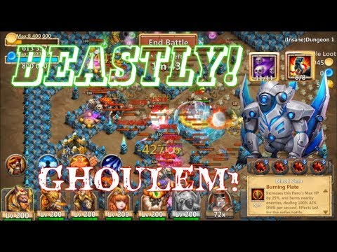 BEASTLY: Skill 11 Ghoulem Action SOLO Dungeon? Castle Clash