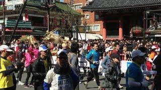 東京マラソンが開催されていたので浅草周辺で動画を撮ってみました。 雷...