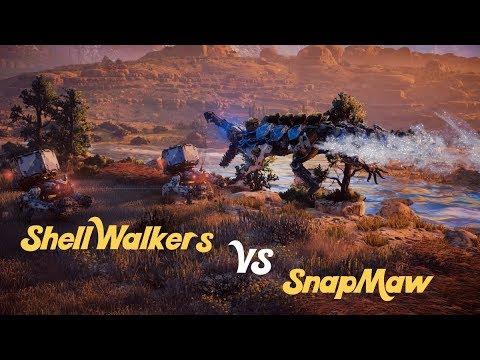 Horizon Zero Dawn Fight Club - Snapmaw VS Shell Walker Squad