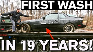 $500 Porsche 944 found in Junkyard Sold for $3000 Restoration Car Detail
