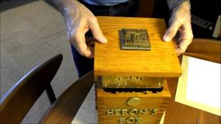 Heron's Box - Secret Lock Locking Opening Puzzle Box Mechanical Mechanism