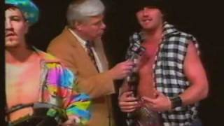 PG-13 vs Tommy Rich, Doug Gilbert - Scott Bowden Must Leave USWA (1-14-95) Title Match