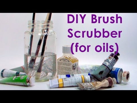 DIY brush cleaning jar for oil paintbrushes