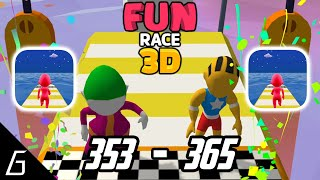 Fun Race 3D Gameplay | Levels 353 - 365 + Bonus (iOS, Android)