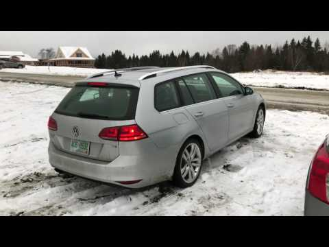 Driving a Volkswagen Sportwagen during Winter with All-Season Tires