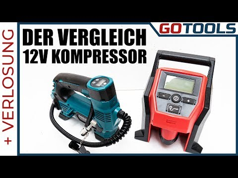 🔥-wozu-braucht-man-einen-akkukompressor-12v-?-|-makita-mp100d-vs-milwaukee-m12bi-🔔-+-verlosung!-🔔