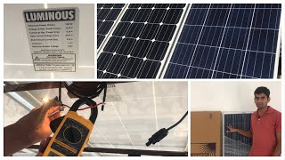 Luminous polycrystalline panel received with replacement of mono