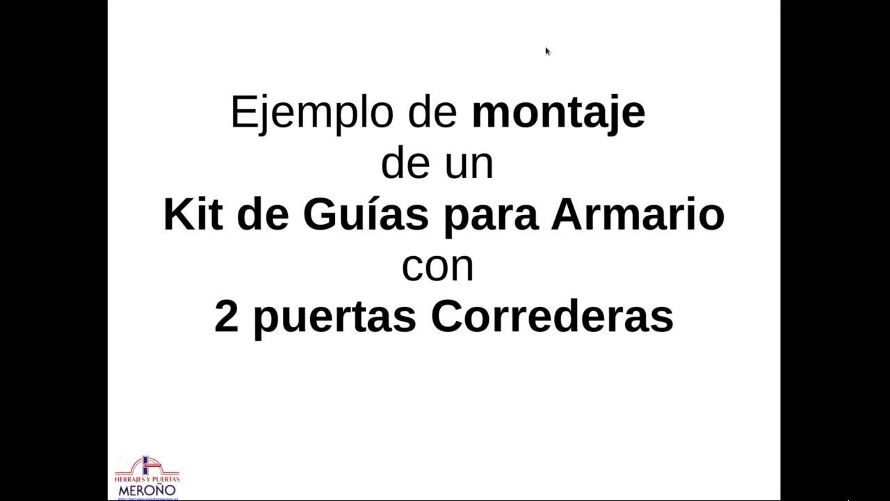 Montaje de un kit de guias para armario puertas correderas - Armario 3 puertas correderas ...