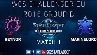 2019 WCS Spring Challenger EU - Ro16 Group B Match 1: Reynor (Z) vs MarineLorD (T)