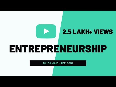 Entrepreneurship by CA Jaishree Soni for CS Foundation Business Environment & Entrepreneurship