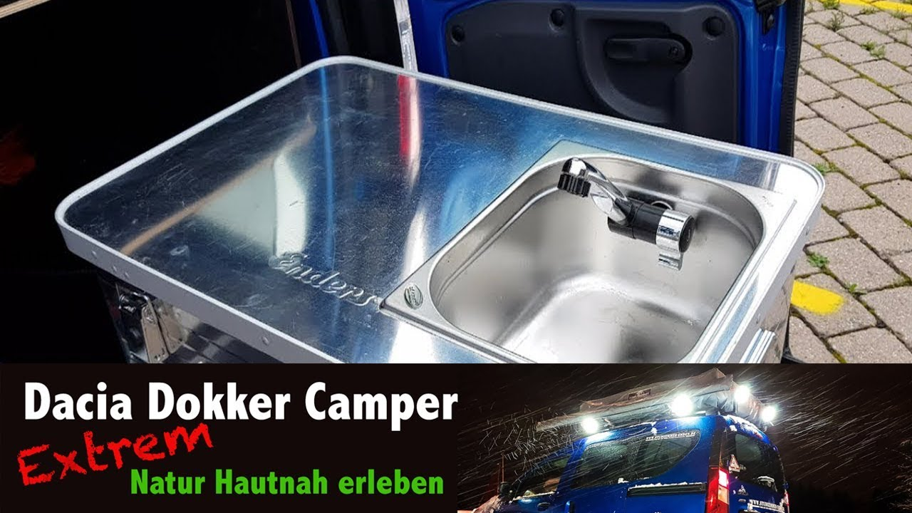 Camping Kuche Dacia Dokker Umbau Zum Camper Fur 4 Personen