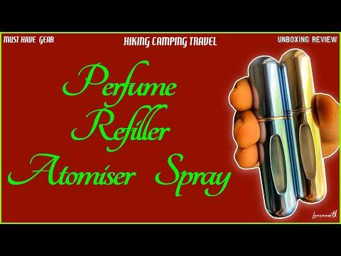 TRAVEL PERFUME ATOMISER SPRAY BOTTLE REFIILLER, UNBOXING REVEIW