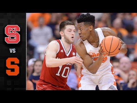 NC State vs. Syracuse Basketball Highlights (2017-18)