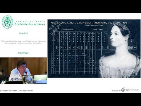 [Conférence] D. ROUX - Découverte fondamentale, invention technique, innovation technologique