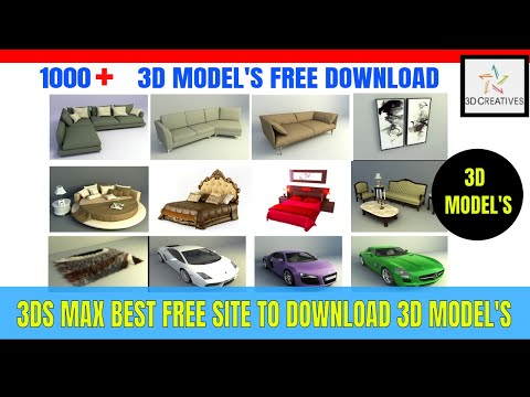 3D Model Free Download Sites & Importing In 3ds Max Hindi