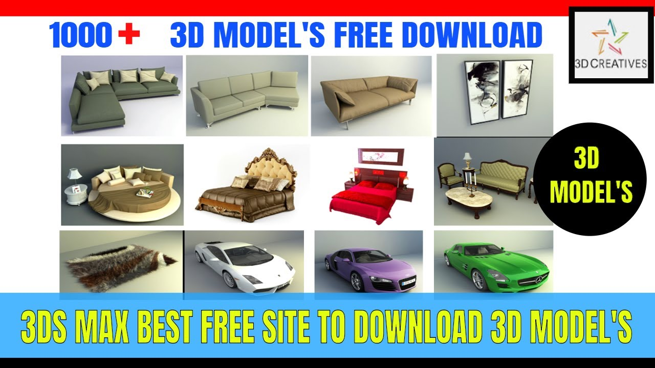 3DMODELS 100 % FREE DOWNLOAD & IMPORT IN 3DS MAX HINDI TUTORIALS